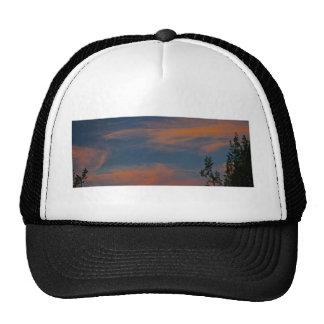 Sedona skies Sunset blue pink clouds Hats