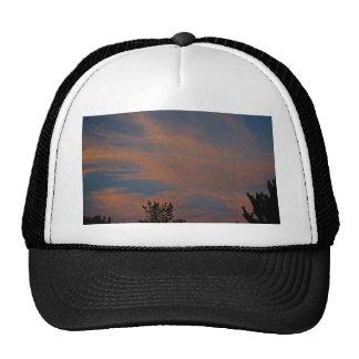 Sedona skies Sunset blue pink clouds Mesh Hats