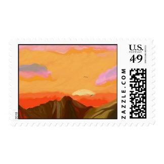 """Sedona Sunset"" postage"