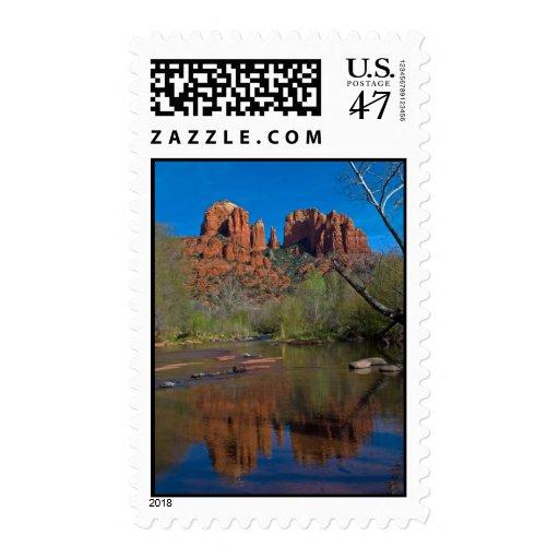 Sedona Winter Postage Stamp 4038