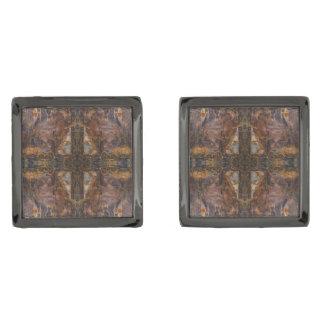 Sedona's Sacred Space Cross by Deprise Gunmetal Finish Cufflinks