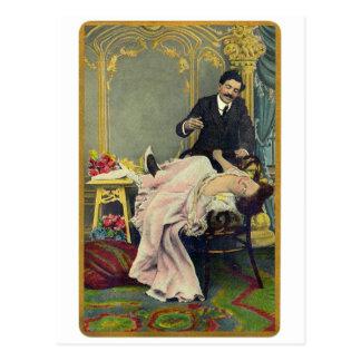 Seducción romántica retra de la boda del vintage postal