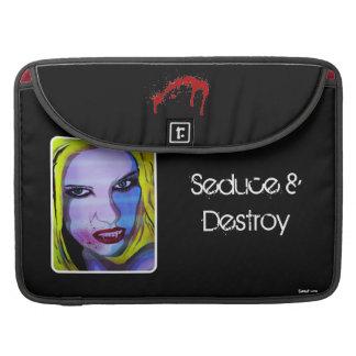 'Seduce & Destroy' MacBook Pro Flap Sleeve MacBook Pro Sleeves