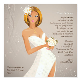 Seductive Bride - Bridal Shower Invitation