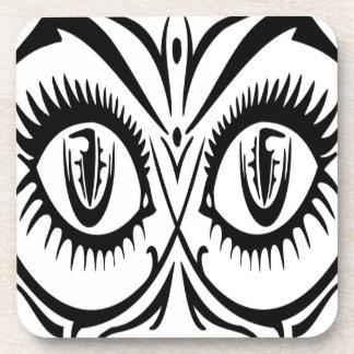 Seductive female eyes drink coaster