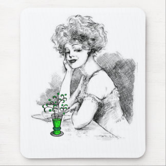 """Seductive Lady With Absinthe"" Mouse Pad"