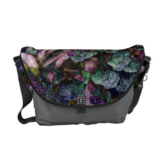 SEDUM AND HOSTA MESSENGER BAG