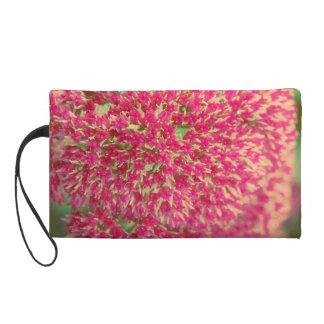 Sedum Pink Flower Wristlet Clutches