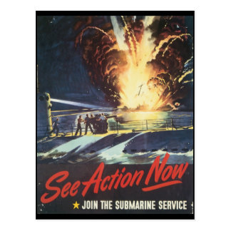 See Action Now World War II Postcard