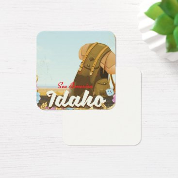 USA Themed See America - Idaho Backpacking travel poster Square Business Card