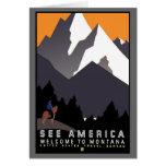See America Montana Greeting Card