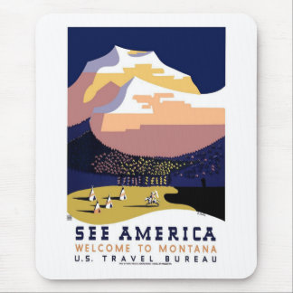 See America Montana Mouse Pad