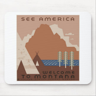 See America Montana Mouse Pads
