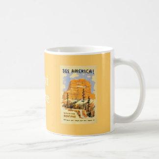 See America Montana Classic White Coffee Mug