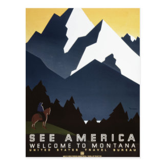 See America-Montana Postcard