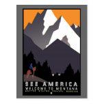 See America Montana Postcard