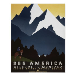 See America-Montana Poster