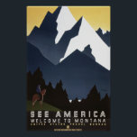 """See America: Montana Poster<br><div class=""""desc"""">Vintage Works Progress Administration (WPA) sponsored art promoting travel to Montana. It was created between 1935 and 1941.</div>"""