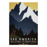 See America: Montana Poster