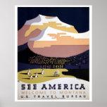 See America, Montana WPA travel Print