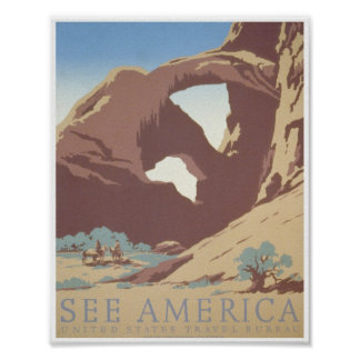 See America: United States Travel Bureau Poster