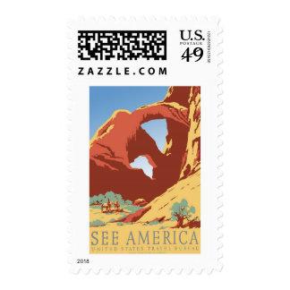 See America United States Vintage Travel Postage