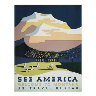 See America - Vintage Montana Travel Poster