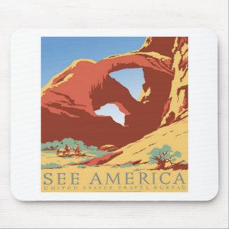 See America Vintage Mousepad
