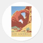 See America Vintage Sticker