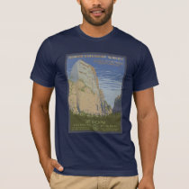 See America Vintage Zion Park Travel Poster T-Shirt