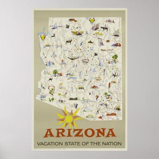 See America - Visit Arizona Vintage travel poster