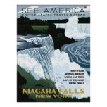 See America - Visit Niagara Fall NY Vintage Poster