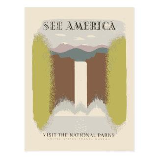 See America Visit The National Parks Postcard