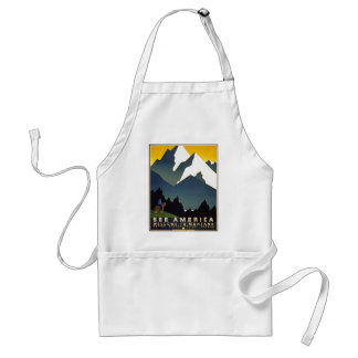 See America - Welcome to Montana Adult Apron