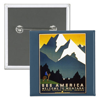 See America - Welcome to Montana Button