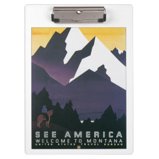 See America ~ Welcome to Montana Clipboard
