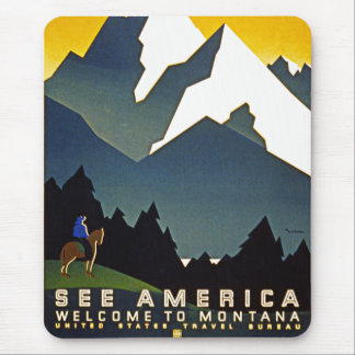 See America - Welcome to Montana Mouse Pad