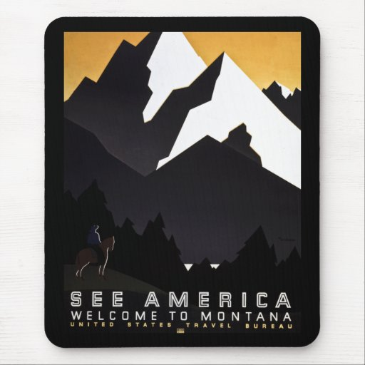See America Welcome to Montana Mouse Pad