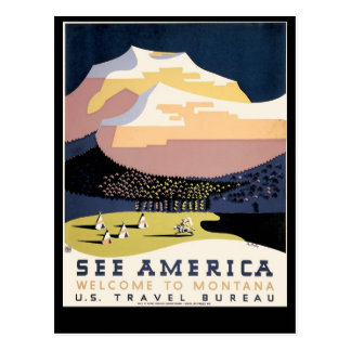 See America ~ Welcome to Montana Postcard