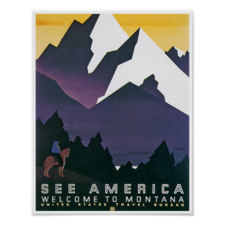 See America ~ Welcome to Montana Poster