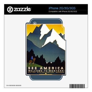 See America - Welcome to Montana iPhone 2G Decals