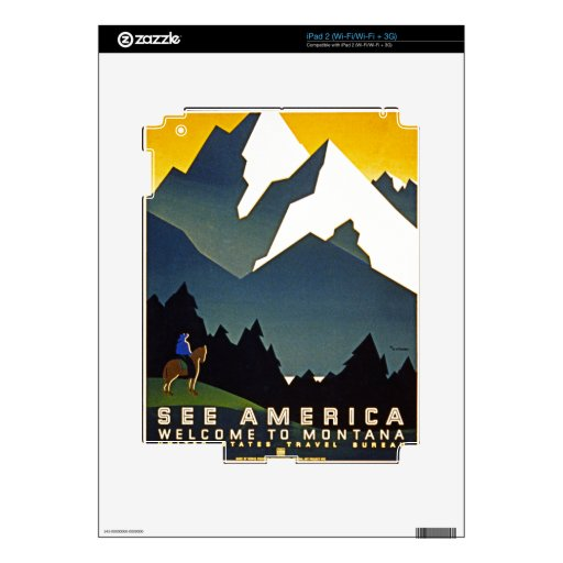 See America - Welcome to Montana Skins For The iPad 2