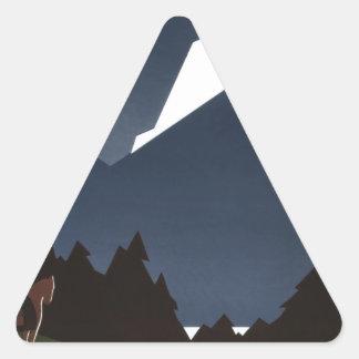 See America Welcome to Montana Triangle Sticker