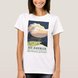 See America Welcome to Montana Vintage Travel T-Shirt