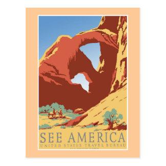 """See America WPA Vintage Travel Poster"" Postcard"