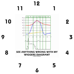Wigger gifts on zazzle see anything wrong with my wiggers diagram round clock ccuart Images
