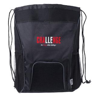 See Change Within Challenge Drawstring BackpackBag Drawstring Backpack
