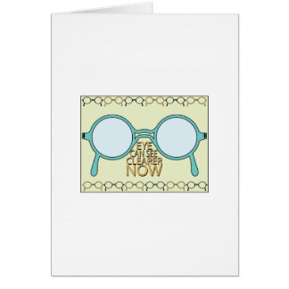 See Clearer Now Greeting Card