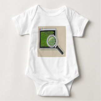 See code through magnifying glass baby bodysuit