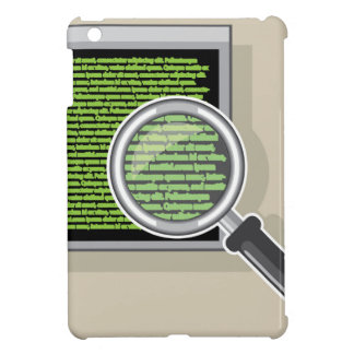 See code through magnifying glass iPad mini cover